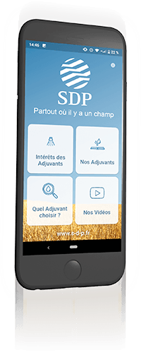 Application SDP Adjuvants sur smartphone
